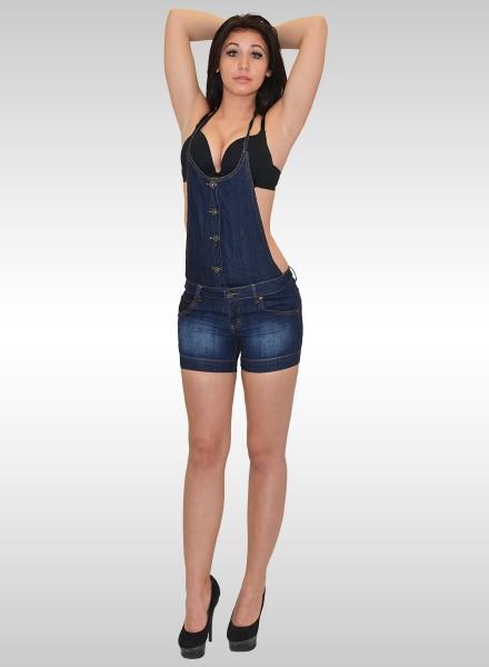 Damen Jeans Latz Shorts