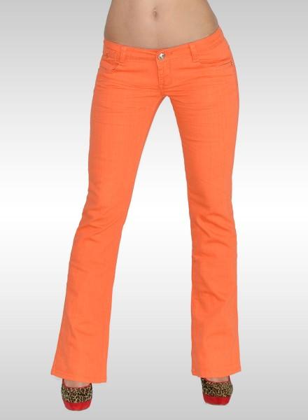 Damen Bootcut Jeans orange