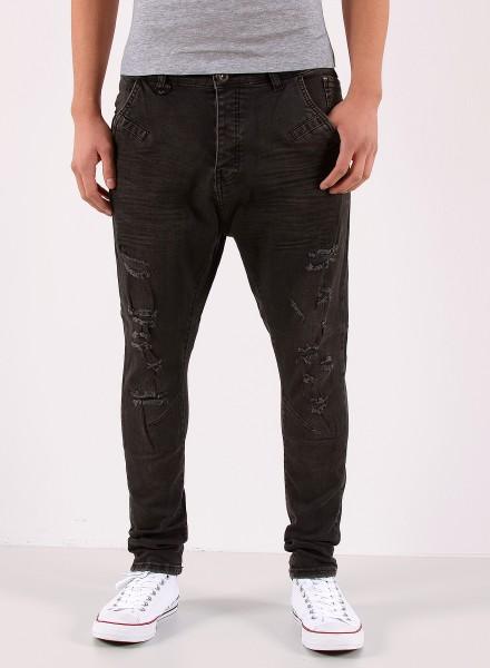 Herren schwarze Baggy Jeans