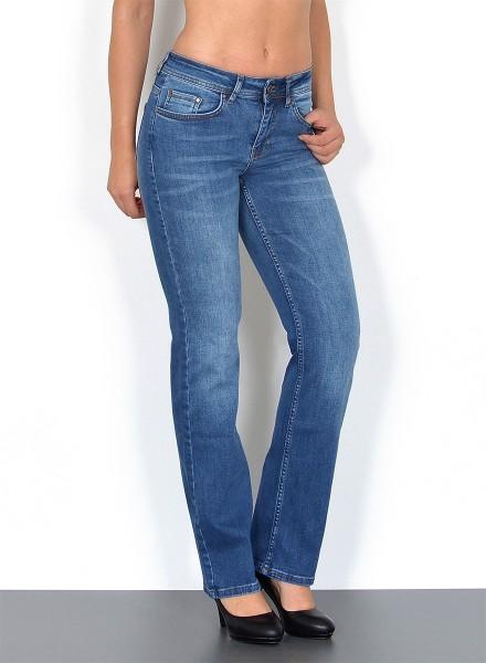 ESRA - Straight Fit Jeans gerader Schnitt bis Plusize G100