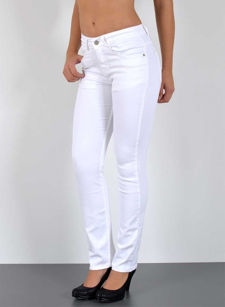 Damen Straight Fit Jeans weiß