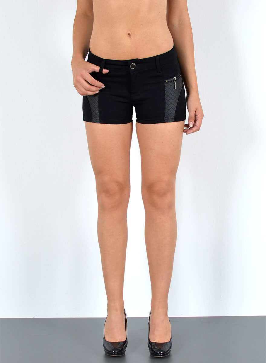 Damen Leder Shorts, Kunstledershorts für Damen, günstige