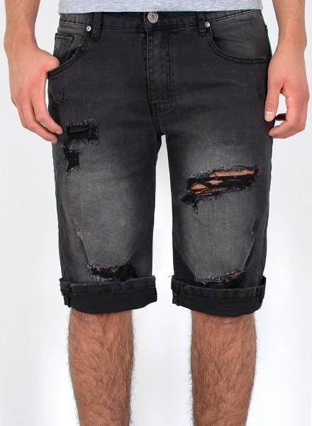 Herren Jeans Shorts Risse große Größen