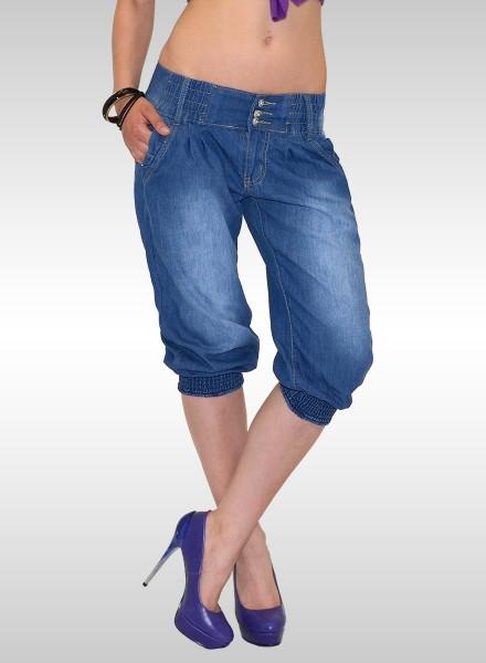 Damen Capri Jeans Pumphose