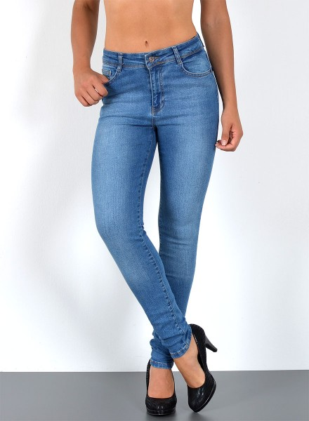 Damen Röhrenjeans Curvy Jeans bis Übergröße