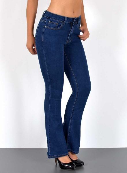 Damen High Waist Bootcut Jeans