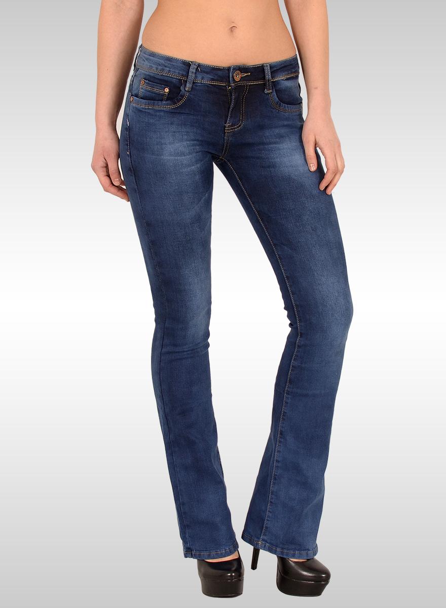 damen schlaghose jeans g nstige bootcut jeans ab gr e 36 bis gr e 42 modische basic bootcu. Black Bedroom Furniture Sets. Home Design Ideas