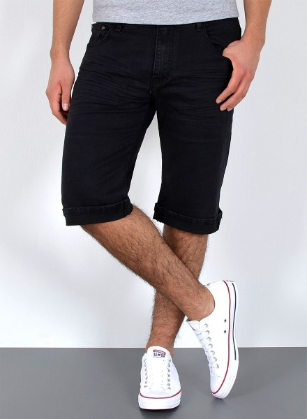 Herren kurze Basic Jeans Shorts große Größen