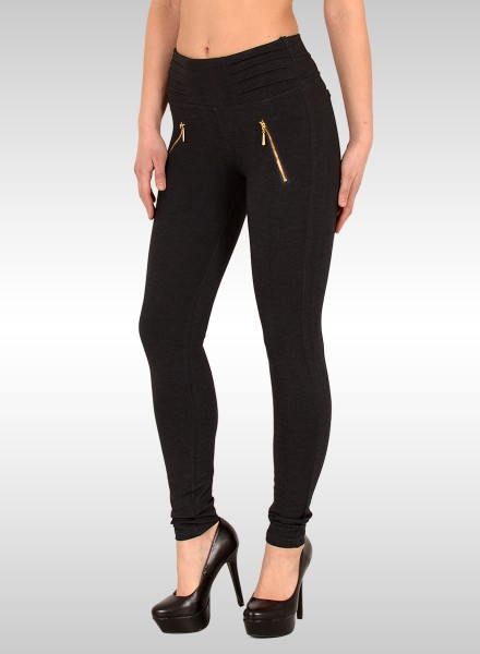 Damen Treggings dunkelgrau