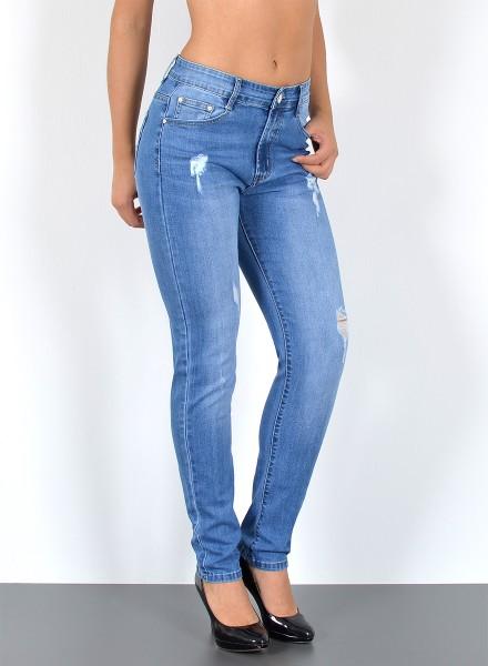 Damen Jeans mit Risse bis Übergröße