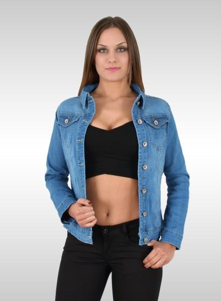 Damen Jeansjacke helblau