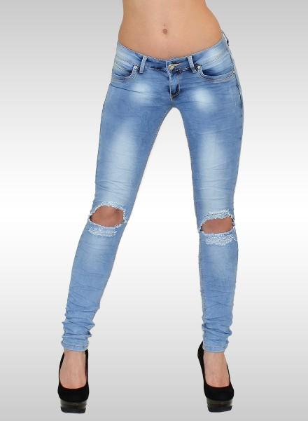 Destroyed Look Skinny Jeans