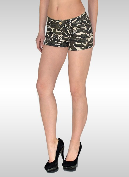 Damen Military Look Hotpants