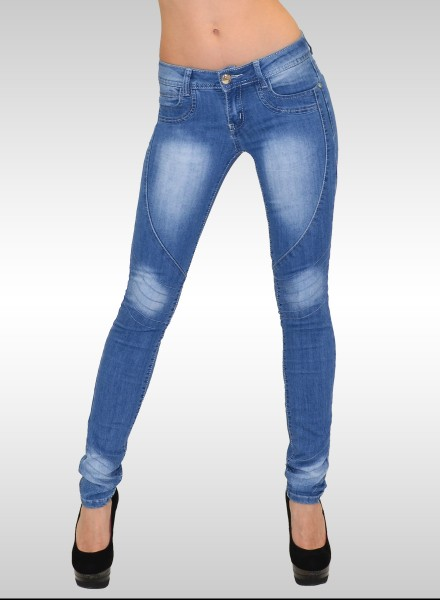 Damen Skinny Jeans mit Muster