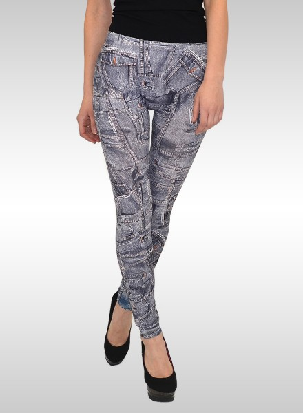 Damen Leggings in Jeansoptik
