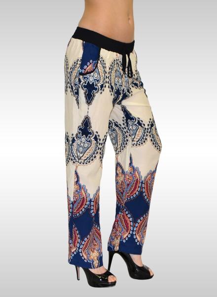 Damen lange Sommerhose mit Muster