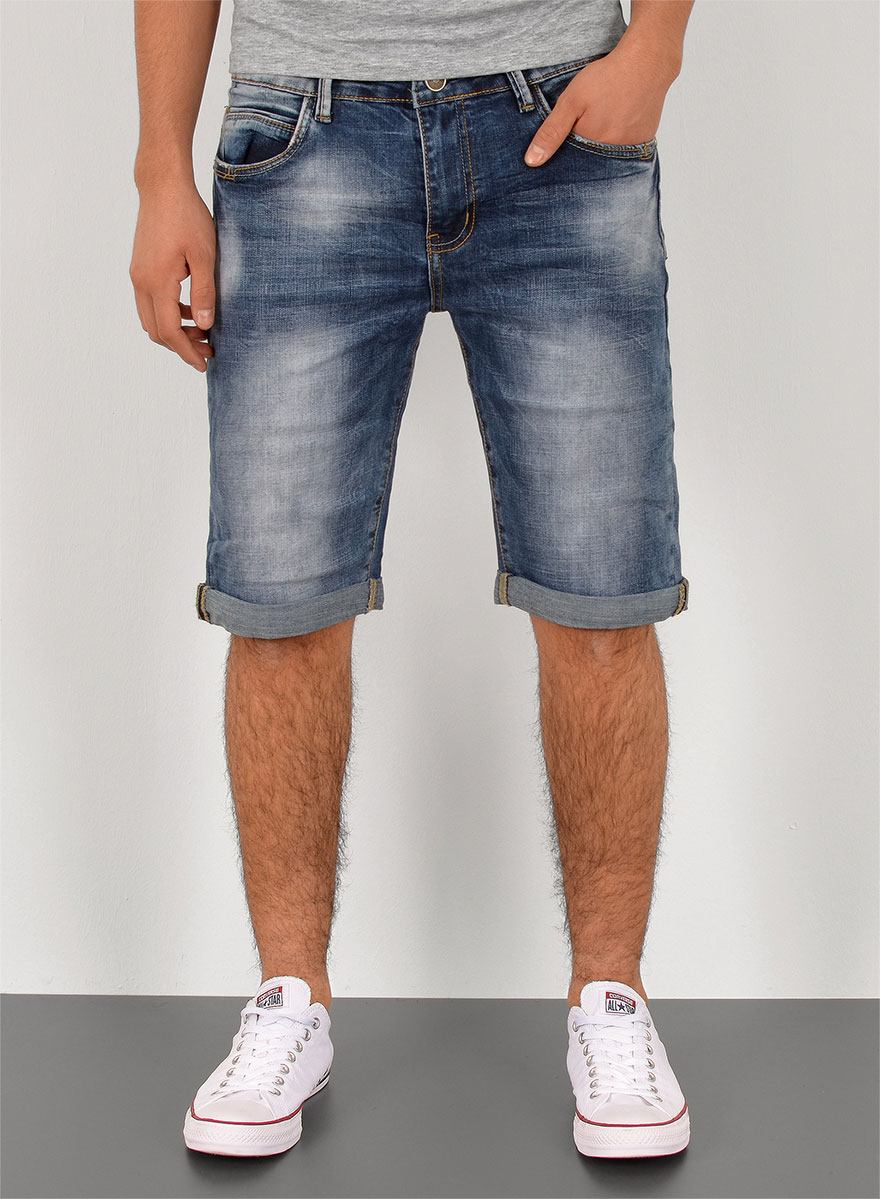 herren jeans shorts kurze bermuda shorts used look kurze. Black Bedroom Furniture Sets. Home Design Ideas