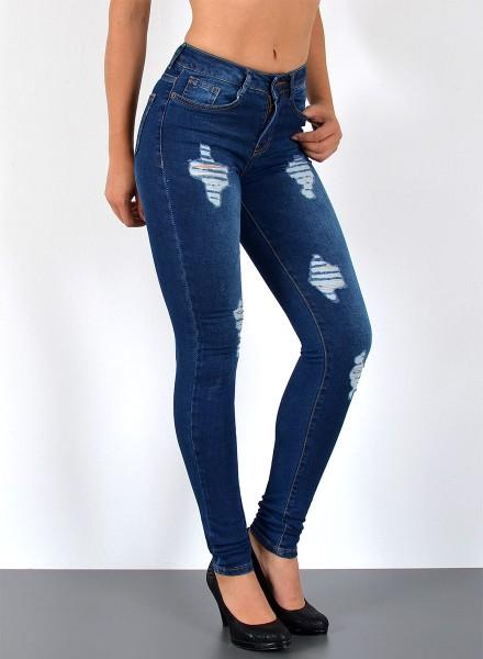 Damen SkinnyJeans mit Risse bis Übergröße