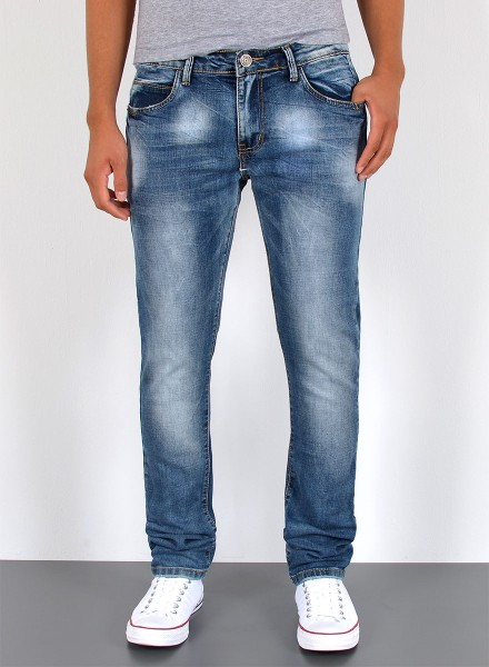 Herren Slim Fit Jeans Basic Used Look