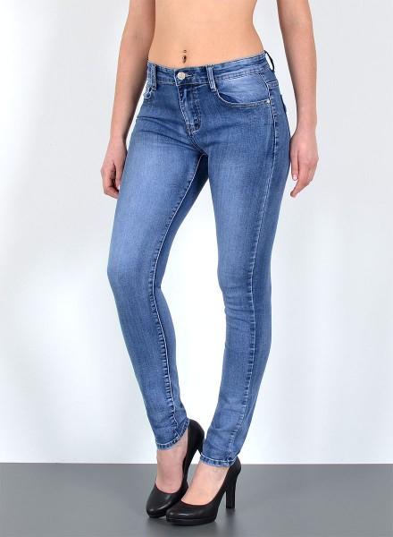 Damen Basic Röhren Jeans große Größen