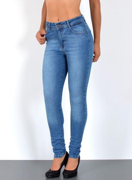 Damen Skinny Jeans Hochbund mit Stretch