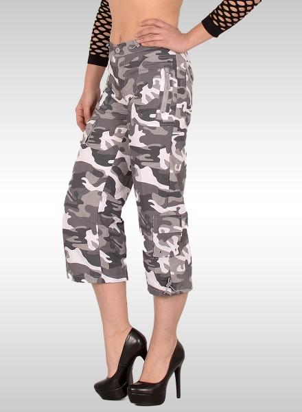 Damen Military Look Bermuda Shorts