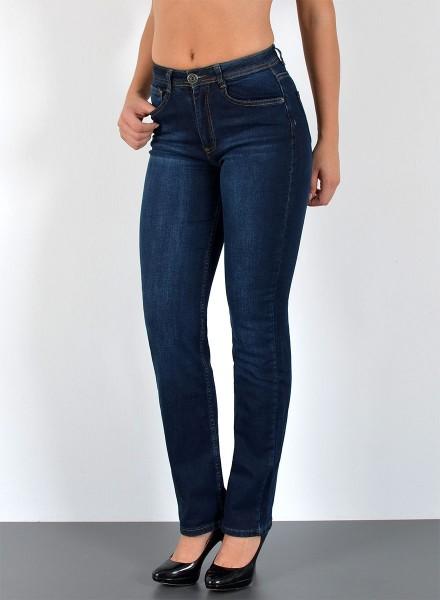 ESRA Damen Jeans Straight Fit bis Übergröße
