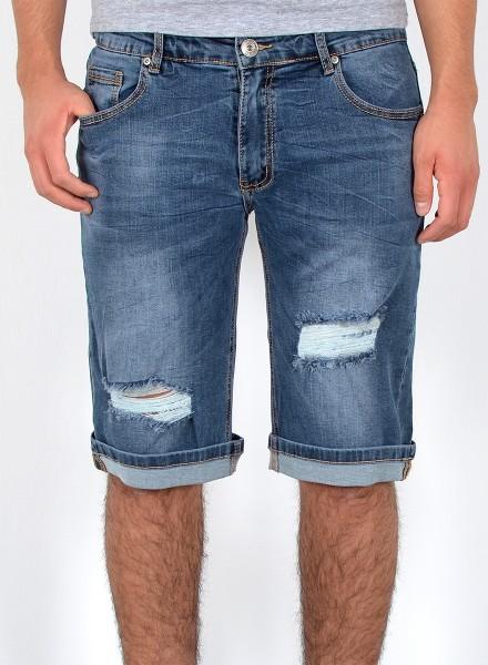 Herren Shorts Jeans kurze Hose Risse Übergröße