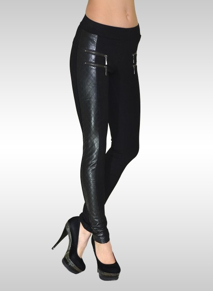 Damen Lederlook Treggings