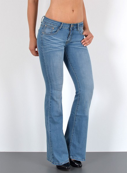 Damen Bootcut Jeans Used Look