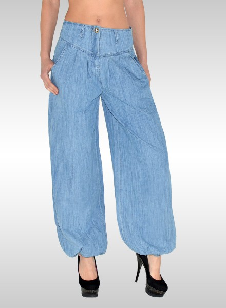 Damen Jeans Pumphose Haremshose Baggyhose