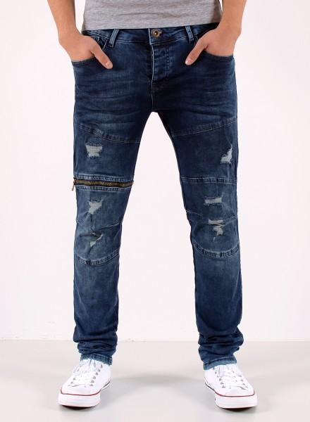 Herren Slim Fit Jeans mit Zipper