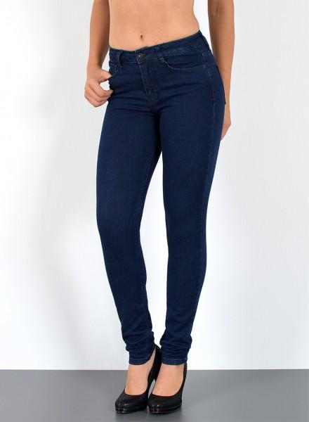 ESRA Damen Hochbund Skinny Jeans große Größen