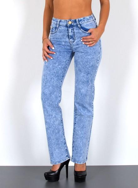 Damen Straight Jeans Hochbund