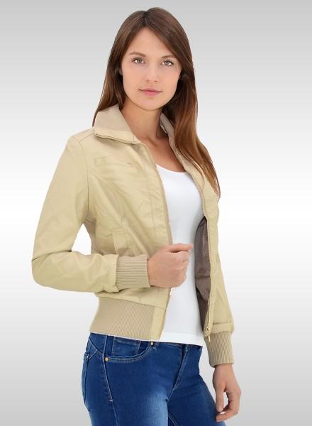 Damen Kunstleiderjacke in aktuellen Farben