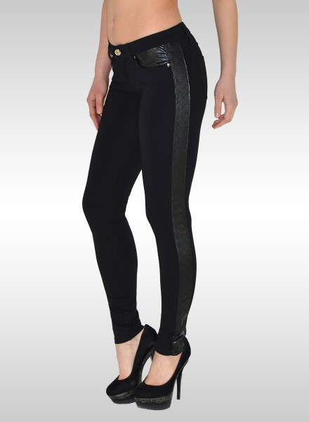 Damen Leder-Optik Treggings
