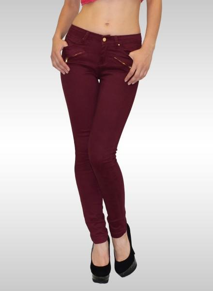 Damen Skinny Hose mit Zipper