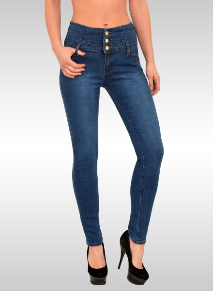 Damen High Waist Skinny Jeans