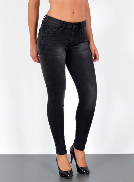 ESRA Damen Skinny Jeans Hose große Größen
