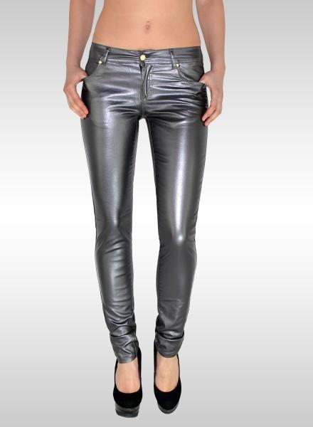 Metallic Damen Hose