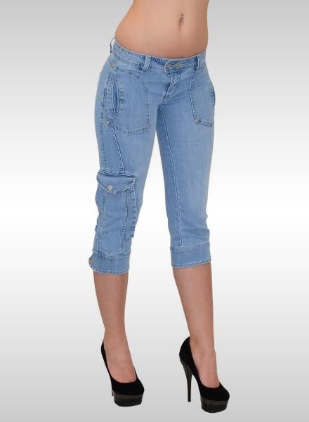 Damen Capri Jeans mit Taschen