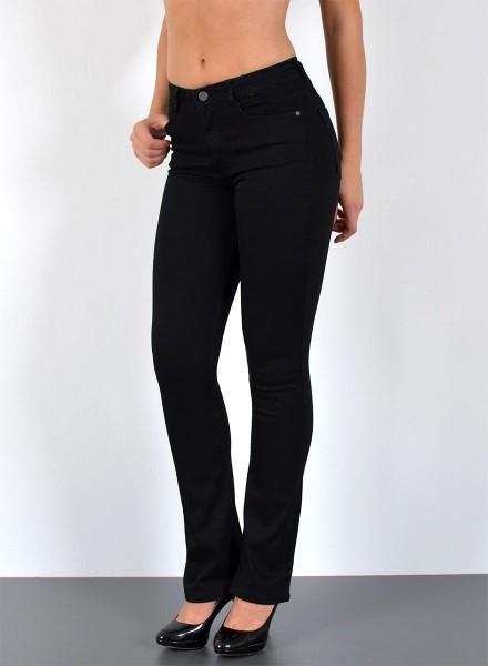 ESRA Damen Bootcut Jeans Highwaist