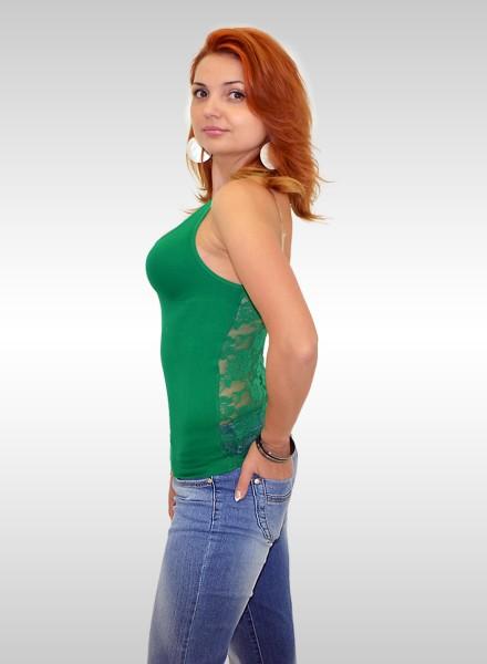 Damen Tanktop mit Spitze