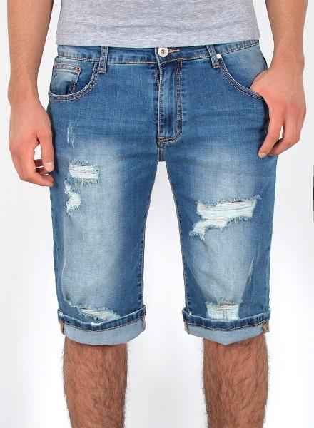 8b90a1505fcbc Herren Jeans Shorts Risse bis Übergröße