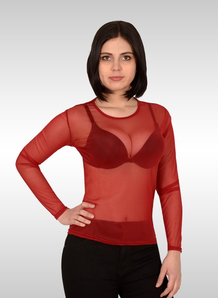 Damen Blusen Body transparent