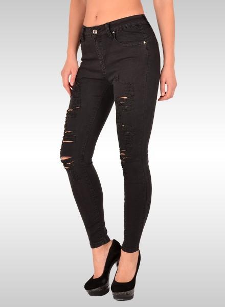 Damen Skinny Jeans mit Risse