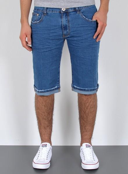 Herren kurze Basic Jeans Shorts bis Übergröße