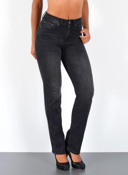 ESRA Damen Jeans gerader Schnitt Curvy Jeans