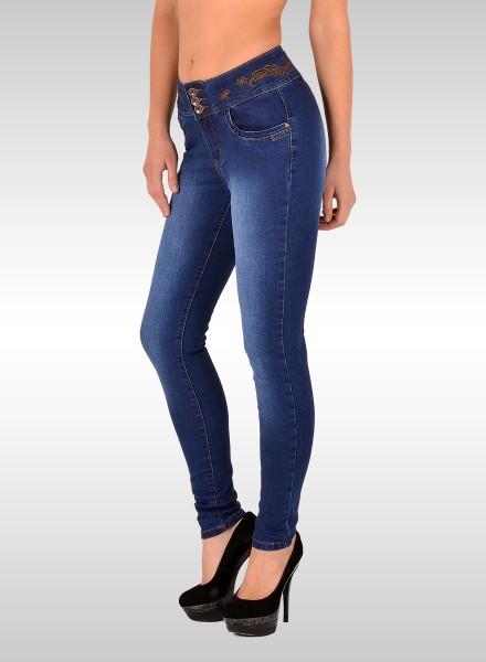 Damen Skinny Jeans mit Muster