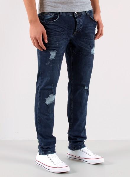 Herren Slim Fit Jeans Destroyed Look